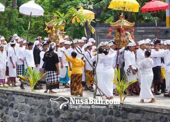 Nusabali.com - puluhan-ribu-pamedek-ngiring-melasti-ke-pantai-ujung-pesisi