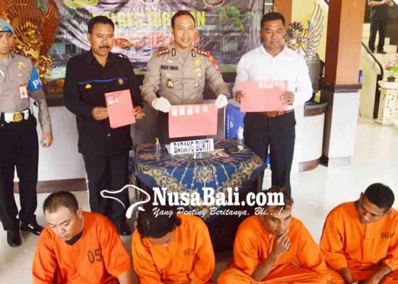 Nusabali.com - polres-tabanan-gulung-empat-pengedar-shabu