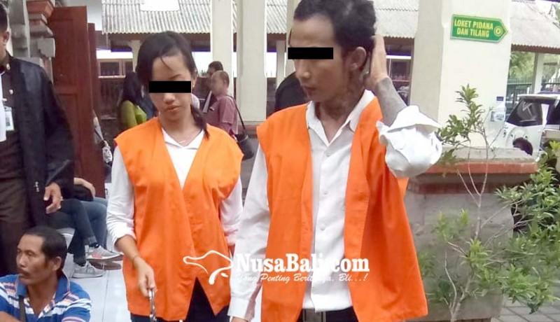 www.nusabali.com-dua-sejoli-residivis-narkoba-dituntut-14-tahun