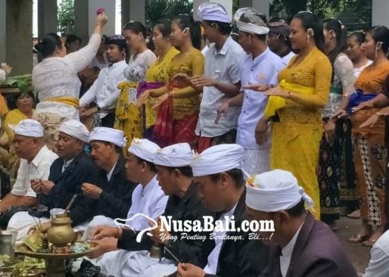 Nusabali.com - pasutri-yang-menek-medesa-adat-diupacarai-layaknya-pengantin