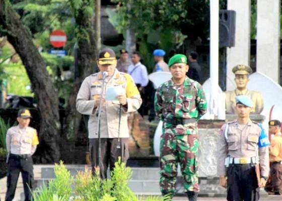 Nusabali.com - gelar-pasukan-personel-gabungan-siap-amankan-pemilu