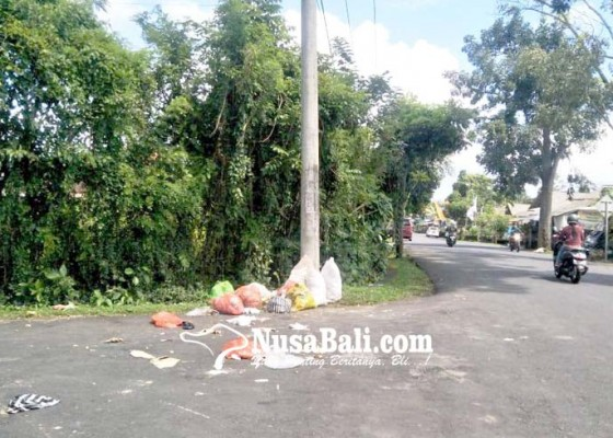 Nusabali.com - sampah-teronggok-di-pinggir-jalan