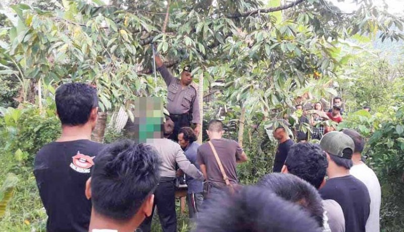 www.nusabali.com-seorang-petani-gantung-diri-di-pohon-durian