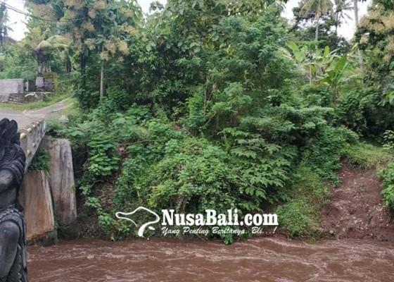 Nusabali.com - senderan-jebol-dikhawatiri-mengancam-jembatan