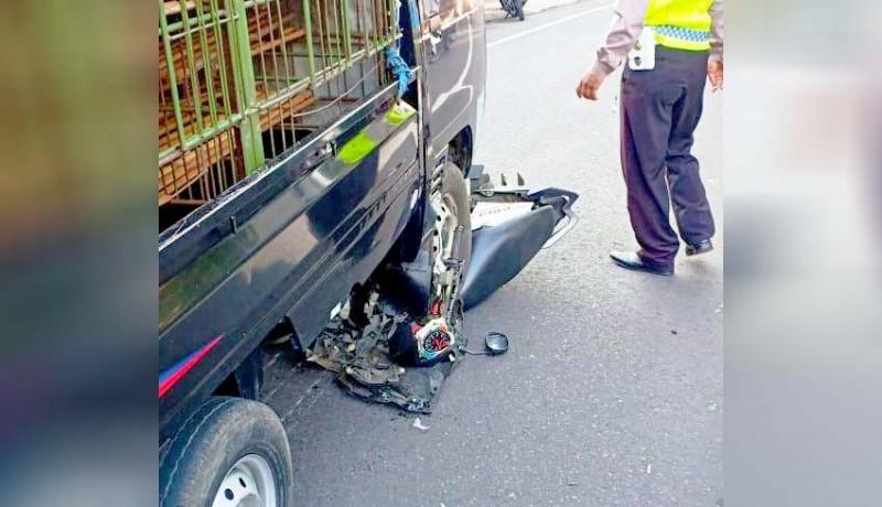 Nusabali Com Ajaib Motor Tergilas Pick Up Hanya Luka Ringan