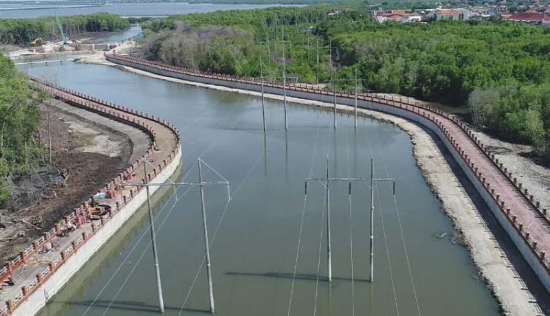 www.nusabali.com-pengerjaan-pompa-banjir-di-tukad-mati-hampir-rampung