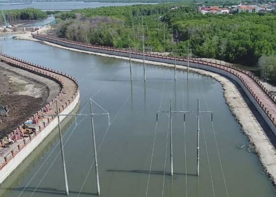 Nusabali.com - pengerjaan-pompa-banjir-di-tukad-mati-hampir-rampung