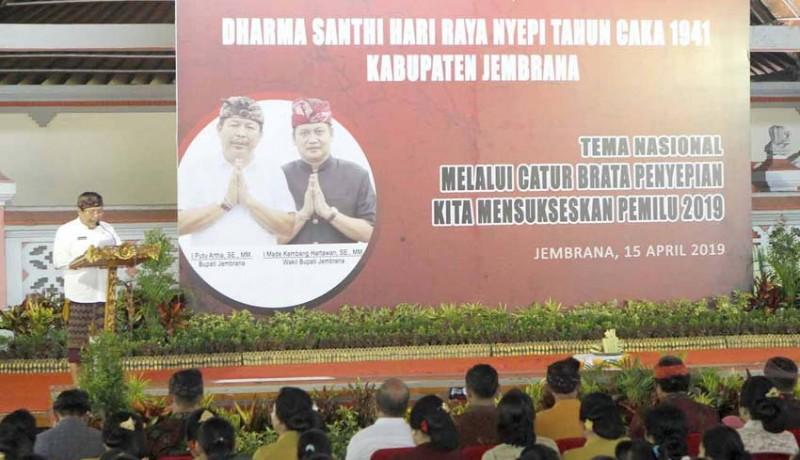 www.nusabali.com-dharma-santhi-nyepi-bupati-artha-minta-jaga-kerukunan-umat-saat-pemilu