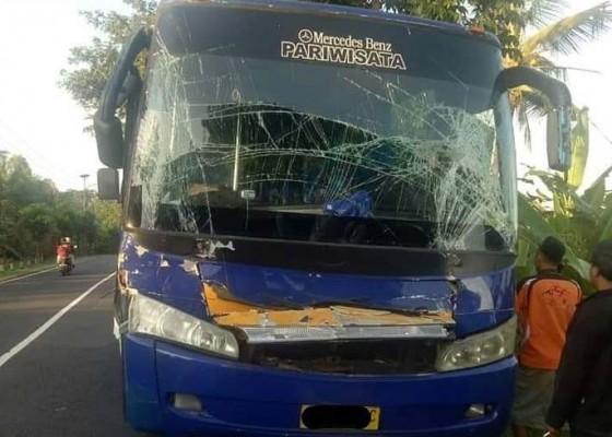 Nusabali.com - bus-rombongan-siswa-asal-lombok-hantam-truk