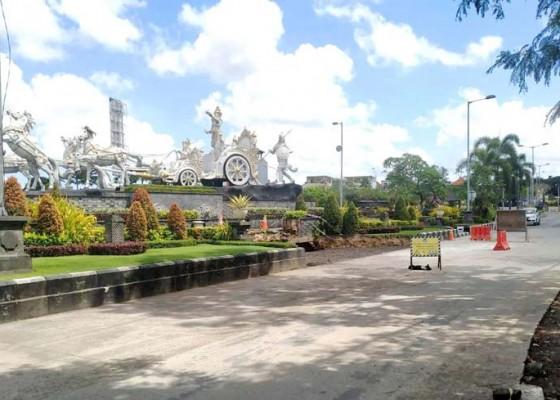 Nusabali.com - selesai-diperbaiki-jalan-ambles-di-jalan-terminal-mengwi