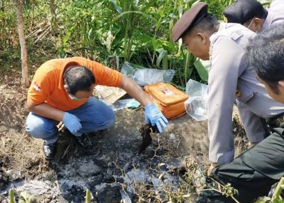 Nusabali.com - mayat-berkaos-polisi-hangus-terbakar