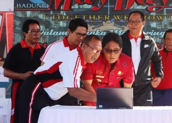 Nusabali.com - bupati-giri-prasta-luncurkan-desa-digital
