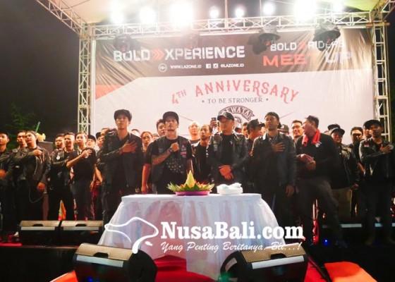 Nusabali.com - gmedia-bali-dukung-anniversary-ke-4-dewata-rockers-diramaikan-225-klub-motor