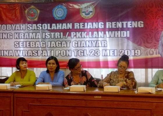 Nusabali.com - tp-pkk-gianyar-gelar-sosialisasi-tari-rejang-renteng