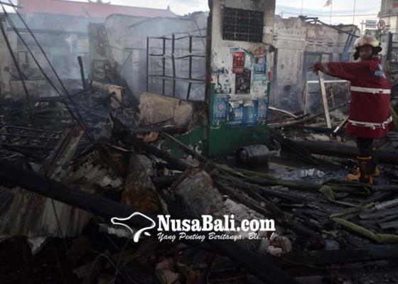 Nusabali.com - percikan-api-gerinda-bengkel-terbakar