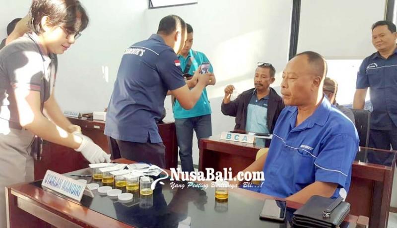 www.nusabali.com-sopir-dan-kernet-bus-angkutan-mudik-tes-urine