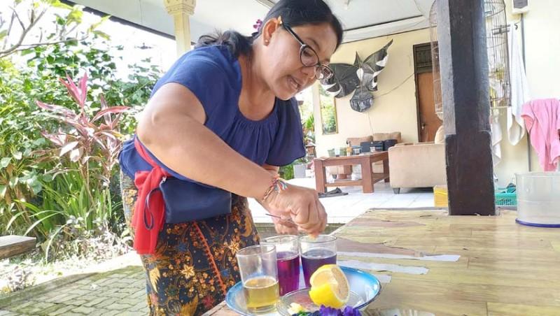 www.nusabali.com-pkk-desa-kukuh-olah-bunga-teleng-jadi-teh