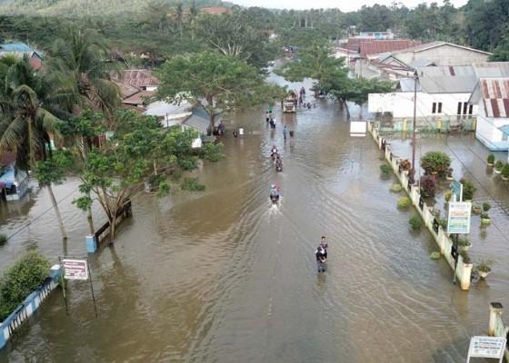 Nusabali.com - logistik-korban-banjir-konawe-disebar-dari-udara