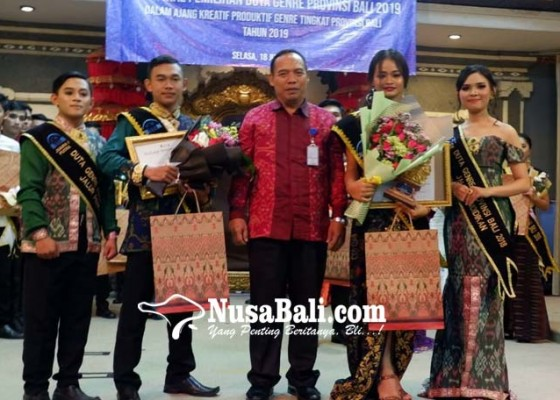 Nusabali.com - aditia-dan-diah-terpilih-jadi-duta-genre-provinsi-bali-2019