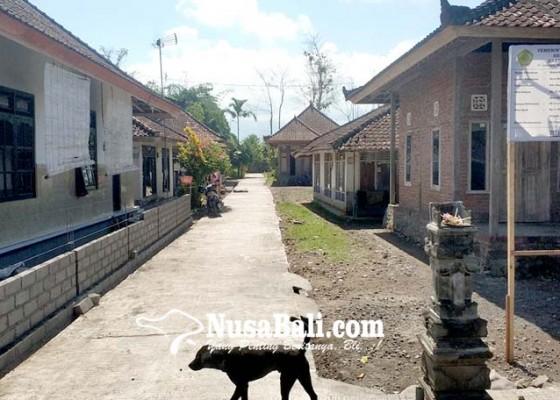 Nusabali.com - dipertanyakan-apbdes-digunakan-membeton-pekarangan-warga