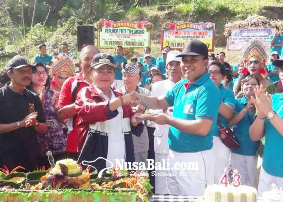 Nusabali.com - hut-ke-43-pdam-bupati-puji-kinerja-karyawan