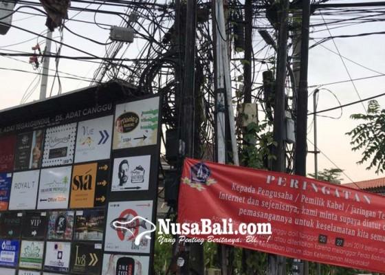 Nusabali.com - satpol-pp-siap-babat-kabel-semrawut-di-kuta