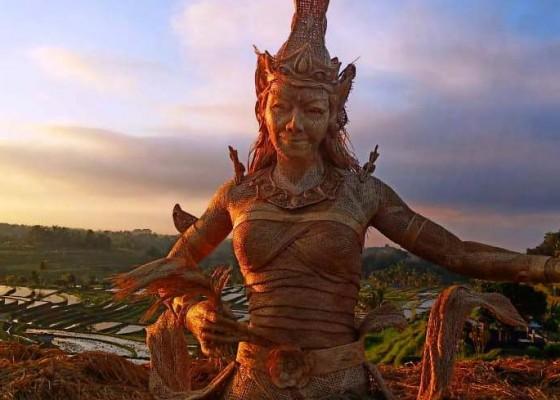 Nusabali.com - patung-dewi-sri-dari-ulatan-bambu-sudah-ditempatkan-di-jatiluwih