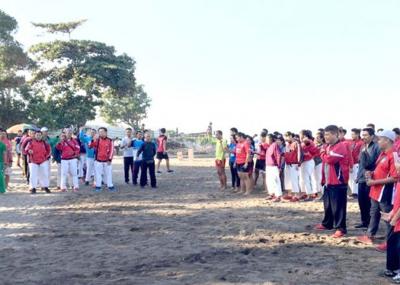 Nusabali.com - koni-badung-monitoring-latihan-fisik-tujuh-cabor
