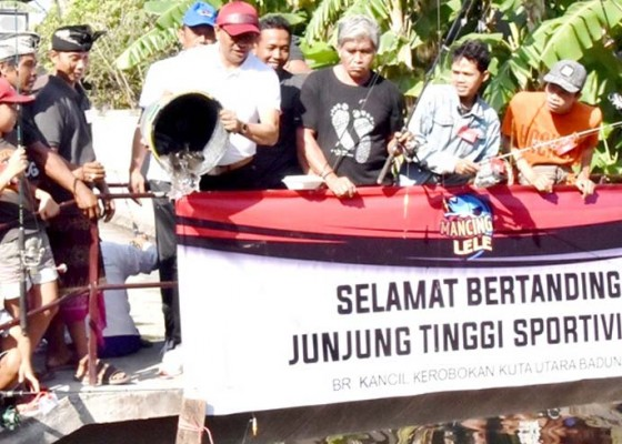 Nusabali.com - ratusan-warga-antusias-ikuti-lomba-mancing-ikan-air-deras-di-kerobokan