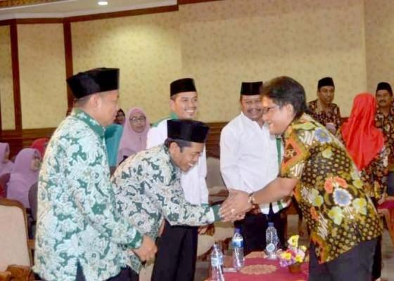 Nusabali.com - bupati-dan-ketua-dewan-badung-hadiri-halal-bihalal-di-puspem