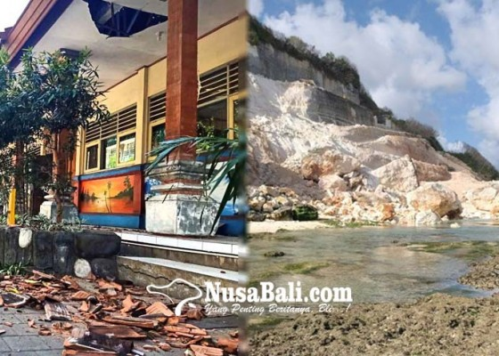 Nusabali.com - 3-terluka-sekolah-rusak-sdn-1-ungasan-diliburkan-pasca-gempa