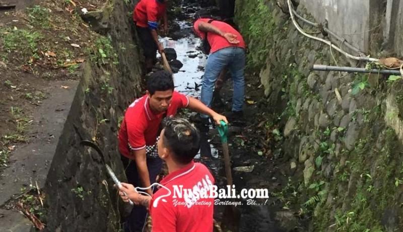 www.nusabali.com-dlh-ajak-pedagang-bersihkan-got-kumuh