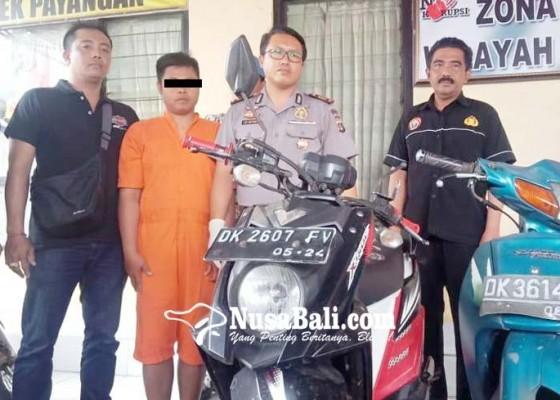 Nusabali.com - lucu-pencuri-motor-tinggalkan-motor-di-tkp