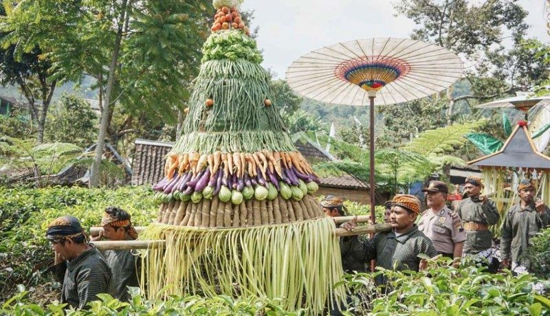 www.nusabali.com-kirab-budaya-bedayan-pucuk-putri-daun-teh-kemuning