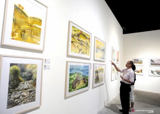 Nusabali.com - rtquarelle-pajang-lukisan-seniman-56-negara