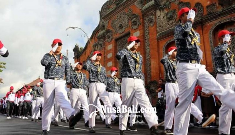 www.nusabali.com-peserta-gerak-jalan-wajib-nyanyikan-lagu-perjuangan