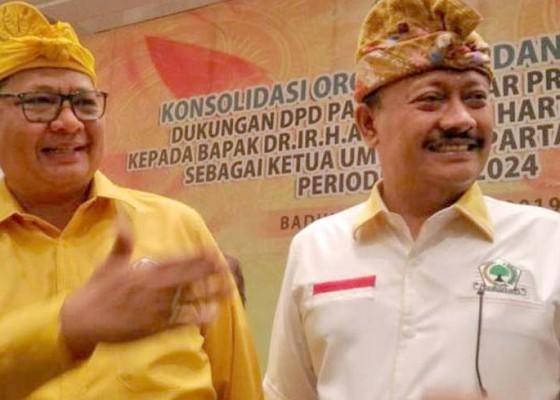 Nusabali.com - golkar-bali-sepakat-dukung-airlangga-kembali-pimpin-golkar