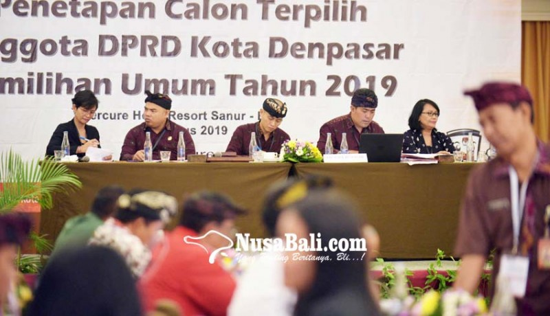 www.nusabali.com-kpu-tetapkan-45-anggota-dprd-kota-denpasar