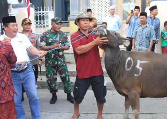 Nusabali.com - bupati-artha-serahkan-26-ekor-hewan-kurban