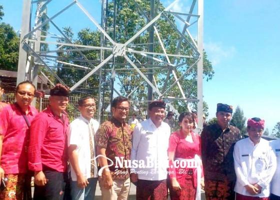 Nusabali.com - bupati-bangli-resmikan-tower-di-desa-siakin