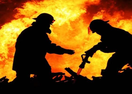 Nusabali.com - gudang-terbakar-kerugian-rp-1-miliar