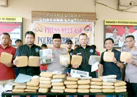 Nusabali.com - 180-kg-ganja-disembunyikan-di-bawah-kasur