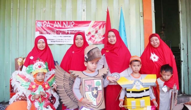 www.nusabali.com-tk-an-nur-gelar-pawai-berbusana-sampah-daur-ulang