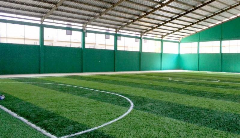 www.nusabali.com-pembangunan-gedung-futsal-ditarget-rampung-bulan-depan