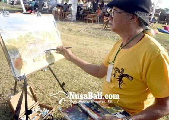 Nusabali.com - komunitas-pelukis-cat-air-respon-suasana-svf-2019