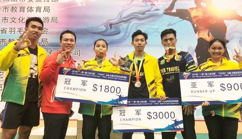 www.nusabali.com-tim-bulutangkis-bali-sabet-2-emas-di-china