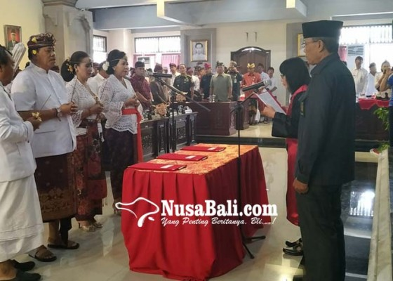 Nusabali.com - dirga-cs-dilantik-komet-pilih-tak-hadir