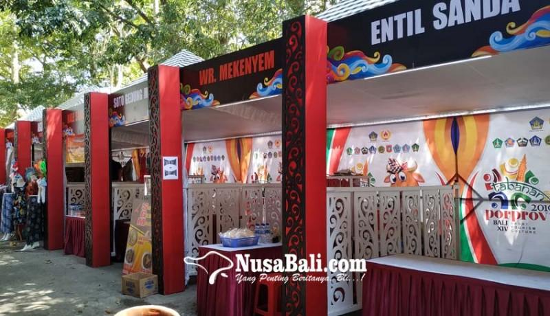 www.nusabali.com-stand-di-porprov-bali-belum-dilengkapi-tulisan-aksara-bali