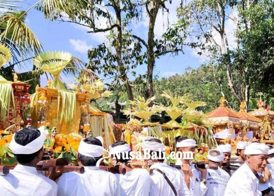 Nusabali.com - usaba-emping-di-desa-selat-ritual-khusus-buat-bhatari-sri
