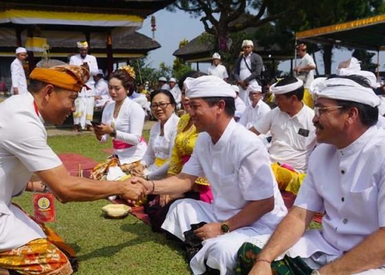 Nusabali.com - pemkab-klungkung-muspayang-pujawali-di-pura-gunung-salak
